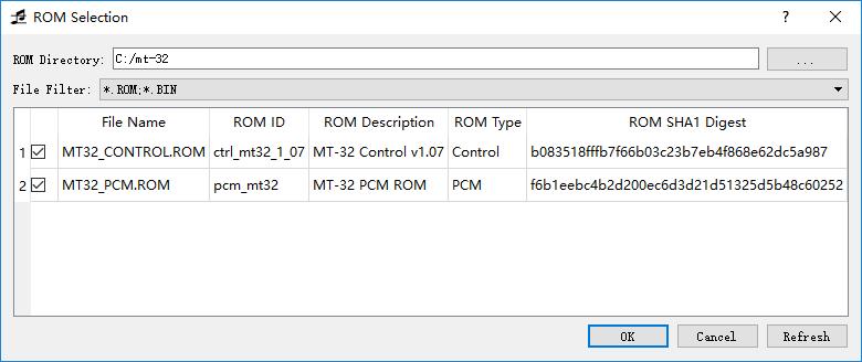 MT-32 ROM 加载